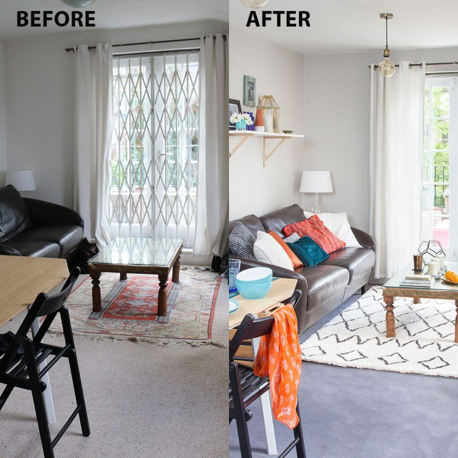 Beautiful Small Changes Have Made A Big Difference In This Parisian Style Living Room