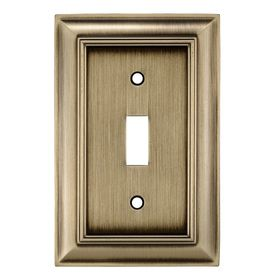 Lowes Wall Plates Custom Allen  Roth 1Gang Antique Brass Toggle Wall Plate Z1768Tabh Inspiration