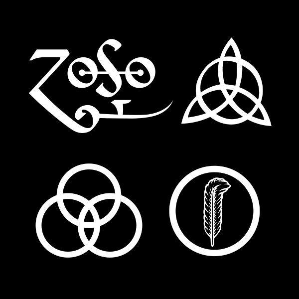 Led Zeppelin Led Zeppelin Symbols Led Zeppelin Art Led Zeppelin Poster