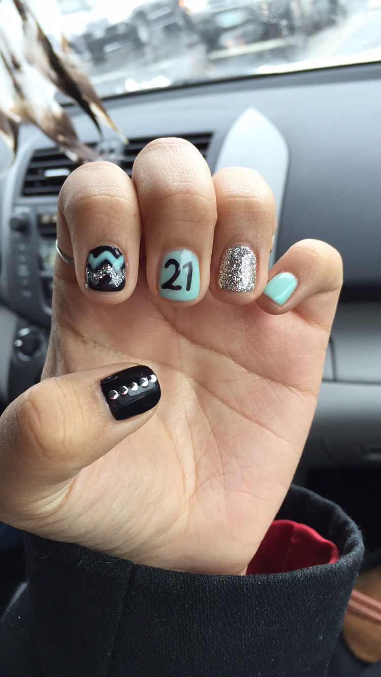 21st birthday nails   Gel Nail designs   Pinterest   21st birthday ...