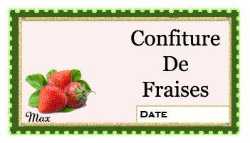 Confiture de fraises etiquettes gourmandes pinterest - Confiture de fraises maison ...