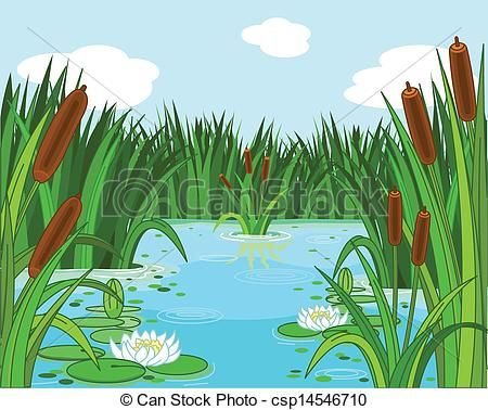 vector pond scene stock illustration royalty free illustrations rh pinterest co uk pond clip art free fish pond clipart