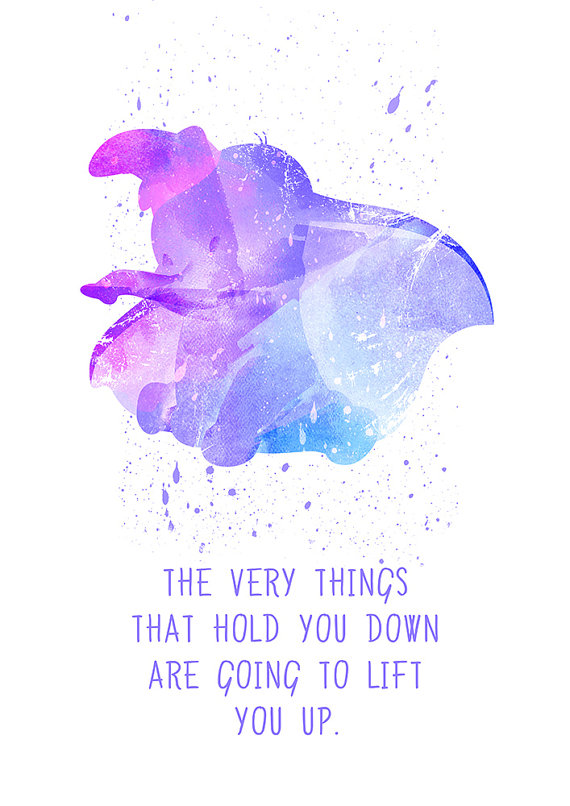 Dumbo Dumbo Quote Disney Fan Art Watercolor By PuellaNest On Etsy Beauteous Dumbo Quotes