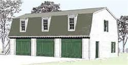 Three Car Gambrel Roof Garage Plan 976 6. Another 18TH C Colonial  Williamsburg Inspired