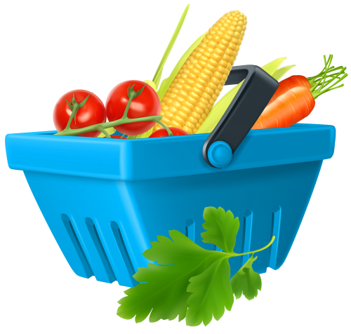 Basket with Vegetables PNG Clipart