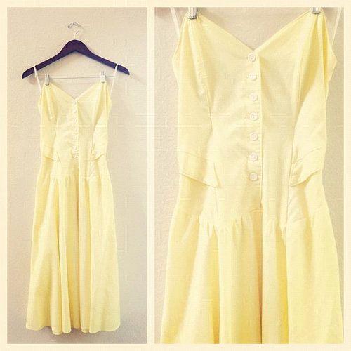 80s bustier dress cream lovely- $35.00 #FlipPinWin