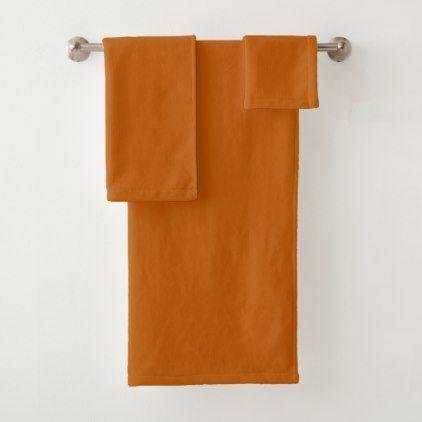 Burnt Orange Bath Towel Set Zazzle