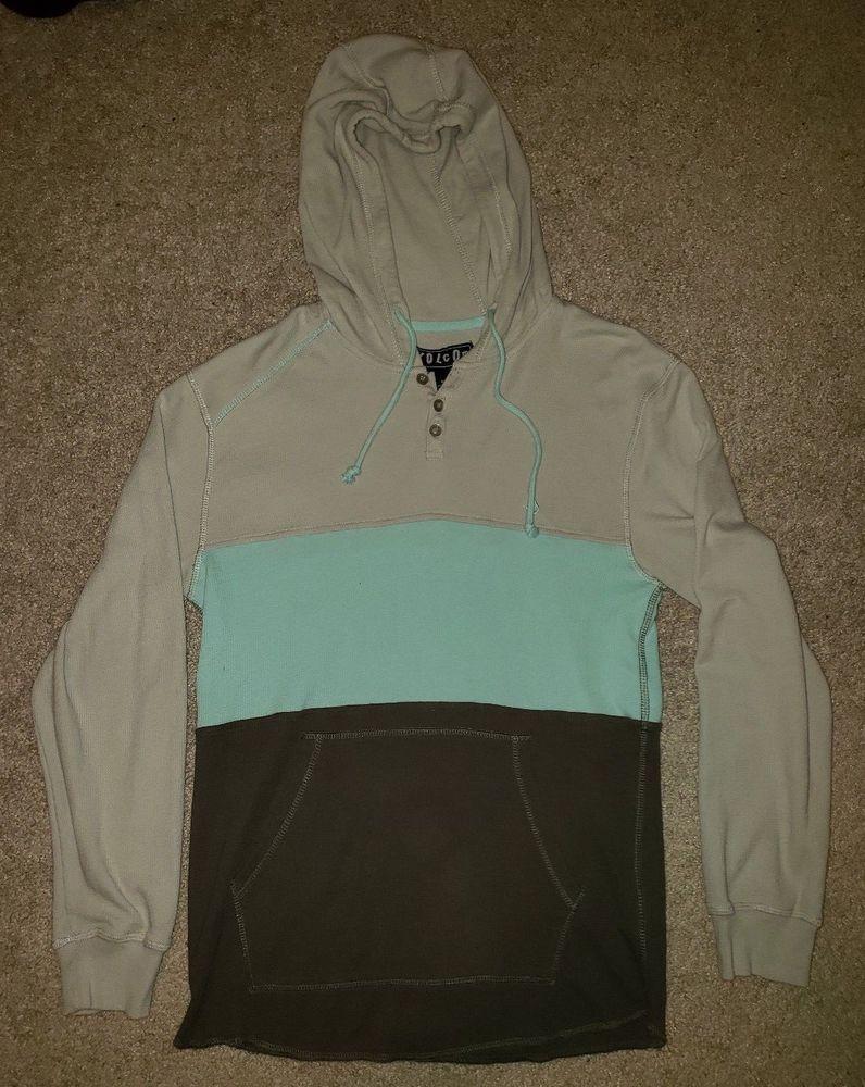 Men S Volcom Long Sleeve Thermal Sweatshirt Small Gray Pre Owned Fashion Clothing Shoes Accessories Mensclothing Ac Adidas Hoodie Mens Sweatshirts Volcom [ 1000 x 796 Pixel ]
