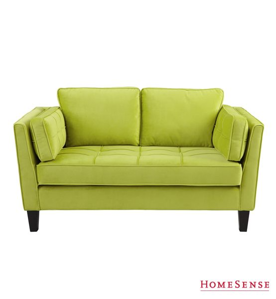 Green velvet love seat. Find bold and colourful furniture pieces at ...