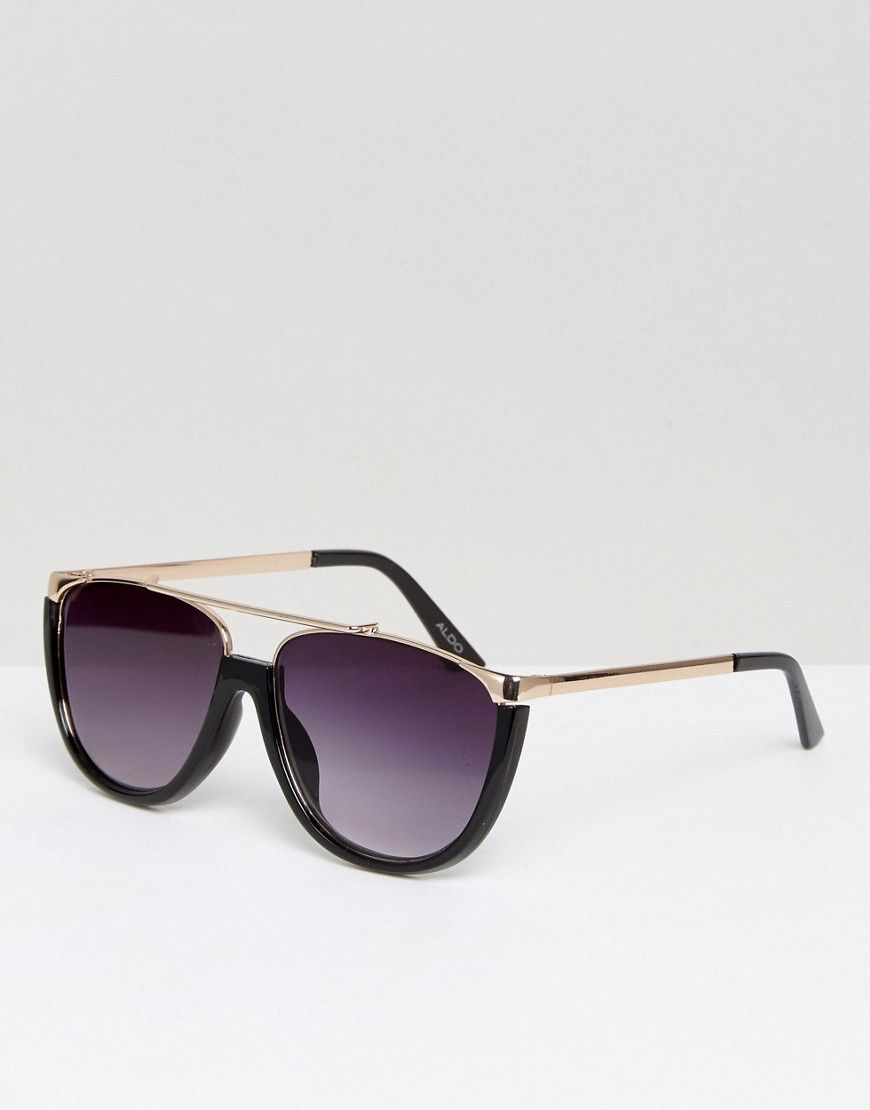 51af5cdc2eabb Get this ALDO s sunglasses now! Click for more details. Worldwide shipping.  ALDO Migliuso Metal Sunglasses - Bl…