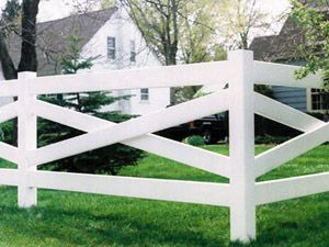 Bufftech 1 1 2 X 5 1 2 X 97 Vinyl Ribbed Cross Rail White Fence Design Fence Landscaping Backyard Fences