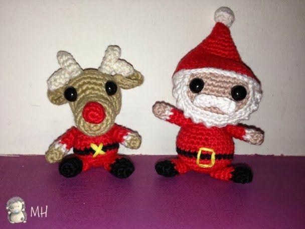 santa Muñeco de Nieve DK Tejer patrón-Lindo Navidad Personaje Juguetes Reno