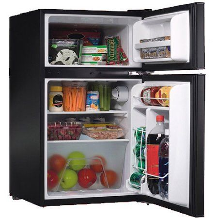 Igloo 3 2 Cu Ft 2 Door Refrigerator And Freezer Walmart Com Small Refrigerator Dorm Refrigerator Compact Refrigerator Freezer