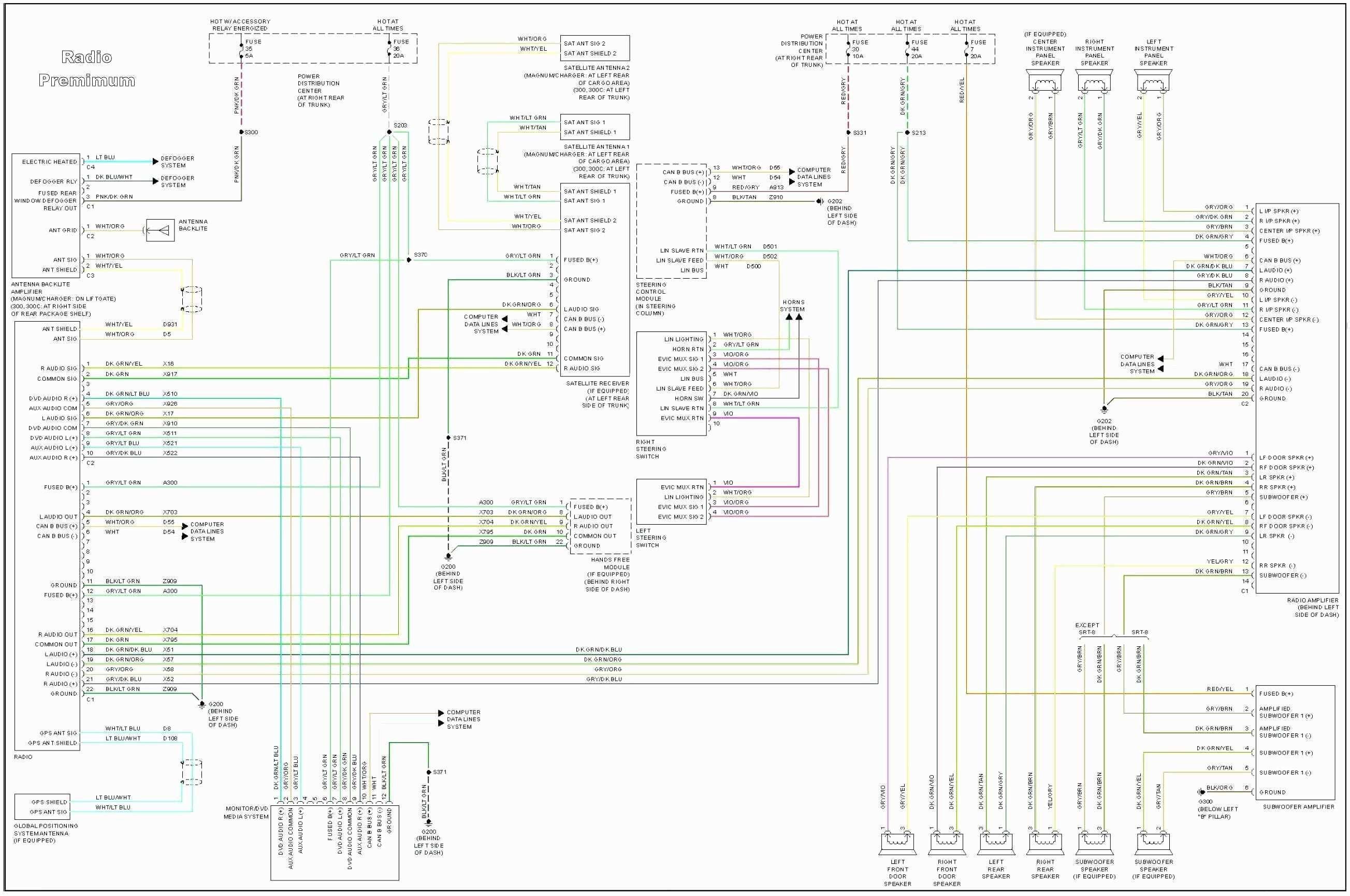 Chrysler 300 Radio Wiring Harness