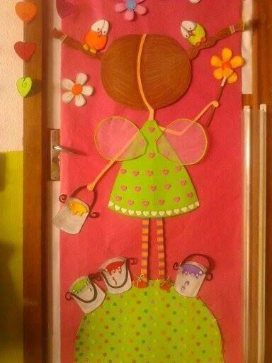 Decoracion puertas clase 1 cole pinterest for Decoracion primavera infantil