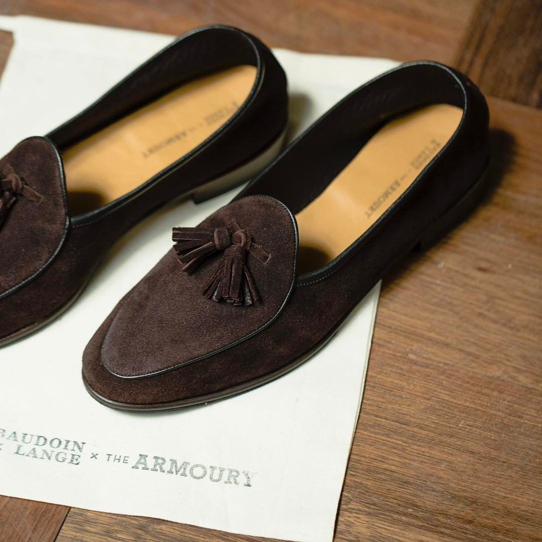 Mens Suede Loafers Baudoin & Lange tSyqY6Q