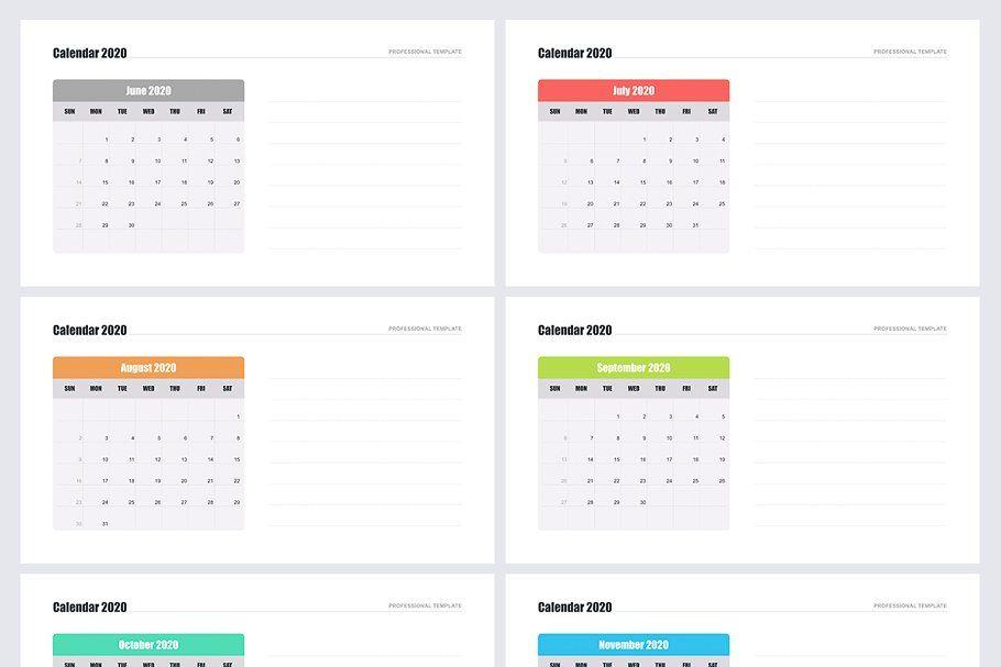 Calendar 2020 For Powerpoint Calendar 2020 Calendar Template Calendar