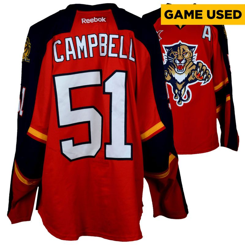 detailed look ff26c b584d Brian Campbell Florida Panthers Fanatics Authentic Game-Used ...