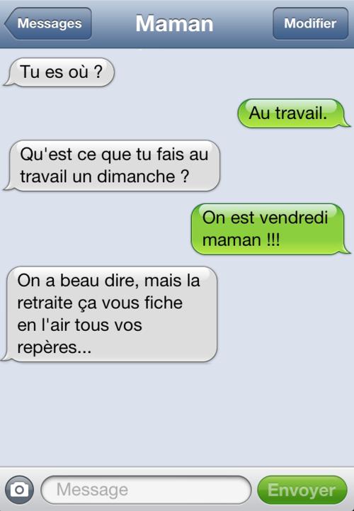 Avec Maman Blague Sms Sms Droles Texto Droles