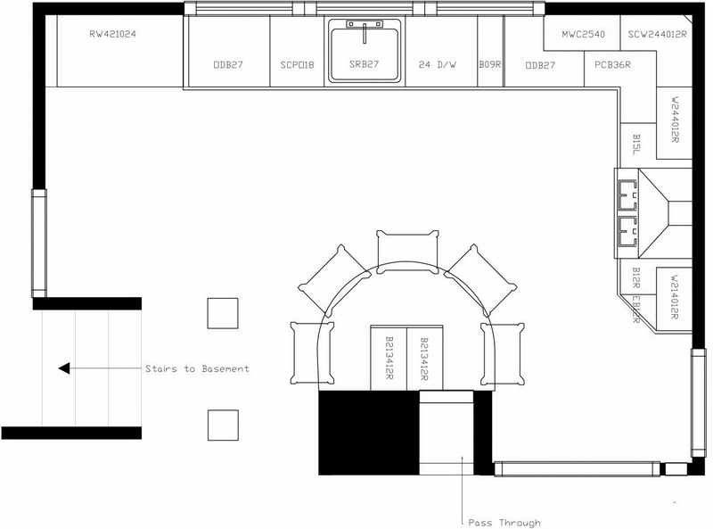 house floor plans shaped kitchen with breakfast bar island Home
