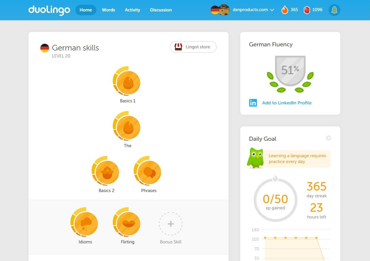 I have been successfully practising German language for a year evey day on Duolingo! :) Excellent online educational program!