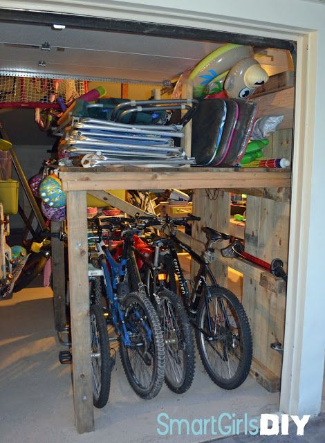 DIY Giant Pallet Organizer For The Garage