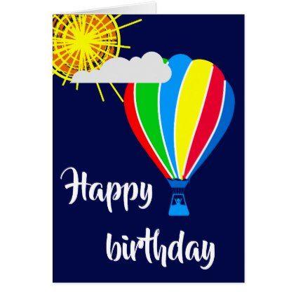 Hot air balloon happy birthday card birthday gifts party hot air balloon happy birthday card birthday gifts party celebration custom gift ideas diy bookmarktalkfo Gallery