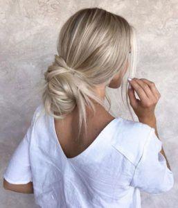 Frisuren für möglichees Haar – Messy Low Casual Bun | Einfache und leichte Fri…