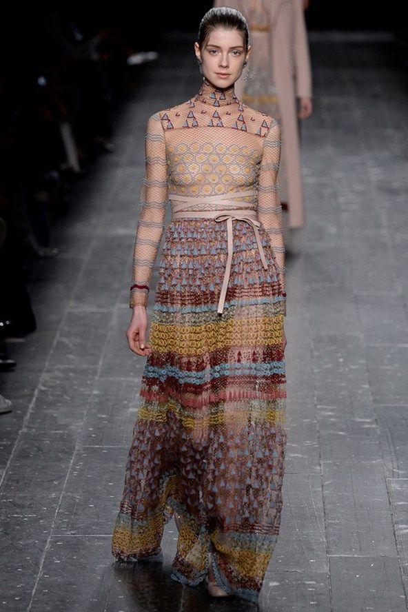 Catwalk photos and all the looks from Valentino Autumn/Winter 2016-17 Ready-To-Wear Paris Fashion Week