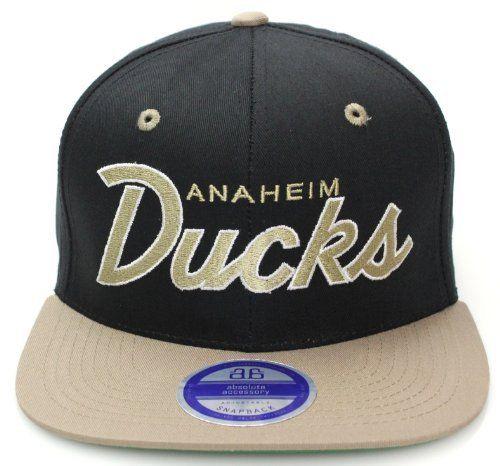 Anaheim Ducks Flat Bill Script Style Snapback Hat Cap Black Taupe Anaheim Ducks. $14.99