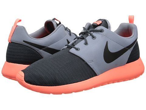 Nike Roshe Run Wolf Grey Atomic Orange White Black - Zappos.com Free  Shipping BOTH Ways 884a58832e24