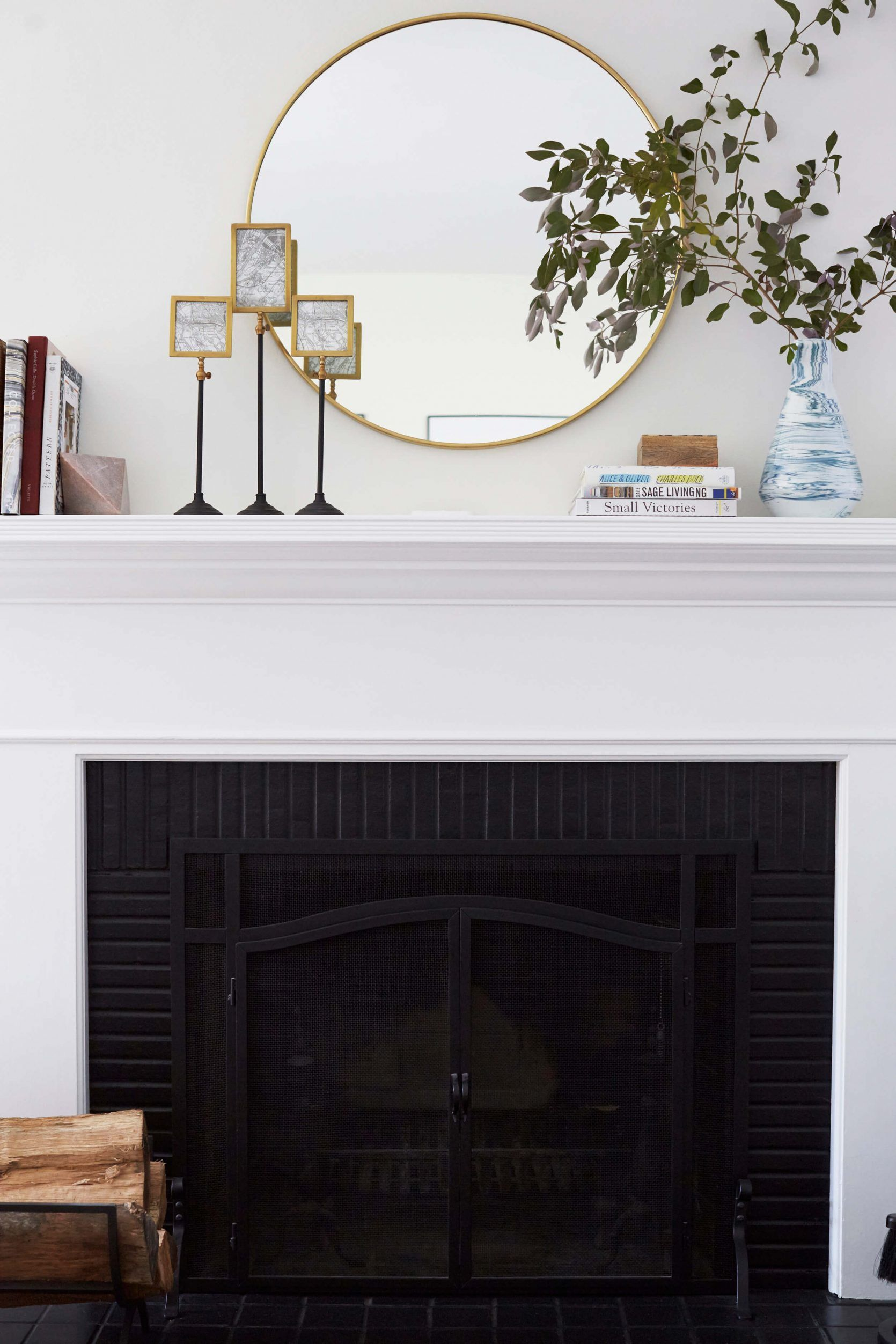 7 Fireplace Mantel Styling Ideas Mirror Over Fireplace Fireplace Mantel Decor Living Room Reveal