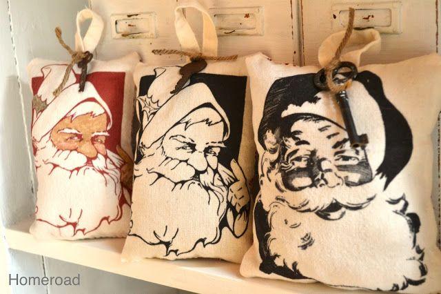 Mini Santa Pillows