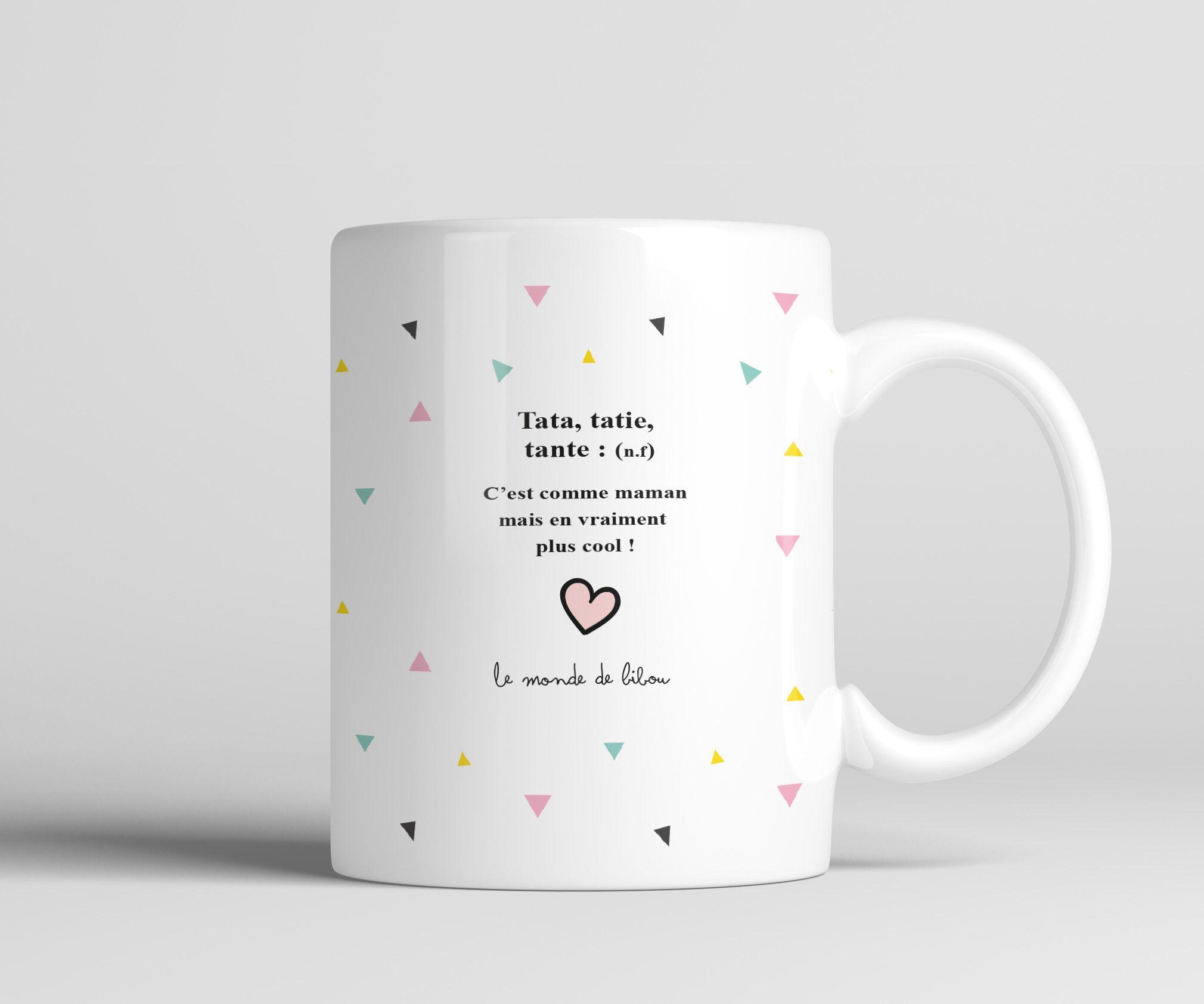 Un cadeau plein d humour  offrir  une tata adorée Une tasse aussi