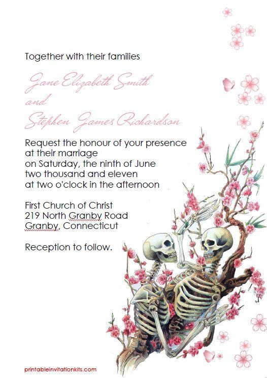 FREE PDF Download Till Death Do Us Part Invitation For Halloween - Halloween wedding invitations templates