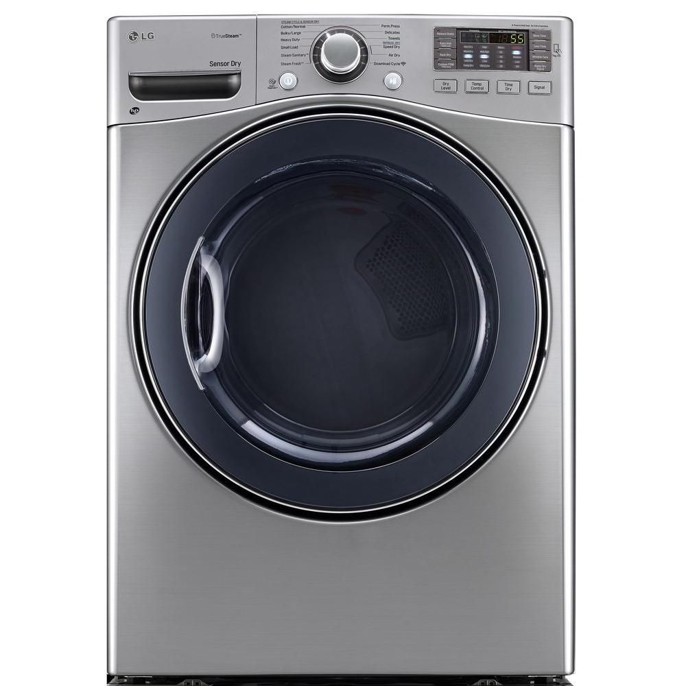 Lg Dlgx3571v 7 4 Cu Ft Gas Dryer With Steam In Graphite Steel Electric Dryers Steam Dryer Gas Dryer