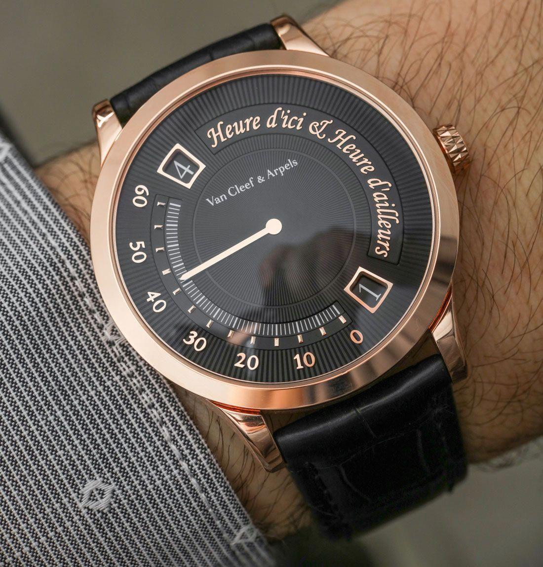 Van Cleef & Arpels Midnight Heure d'Ici & Heure d'Ailleurs Watch ...