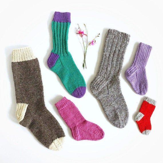 Knitting Pattern *PDF* Classic Socks for family/Pattern ...
