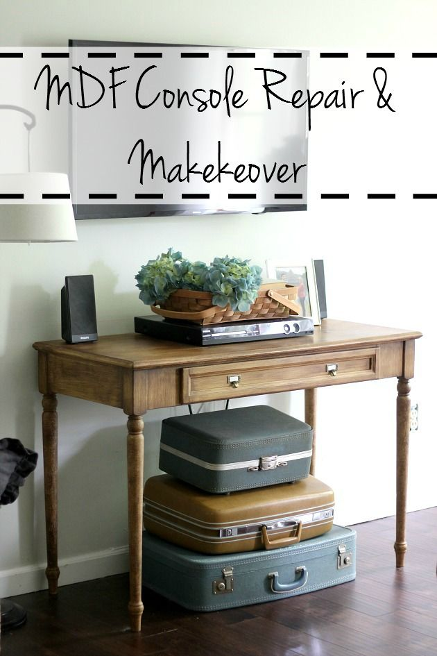 How to repair mdf furniture and create a faux wood paint finish ...