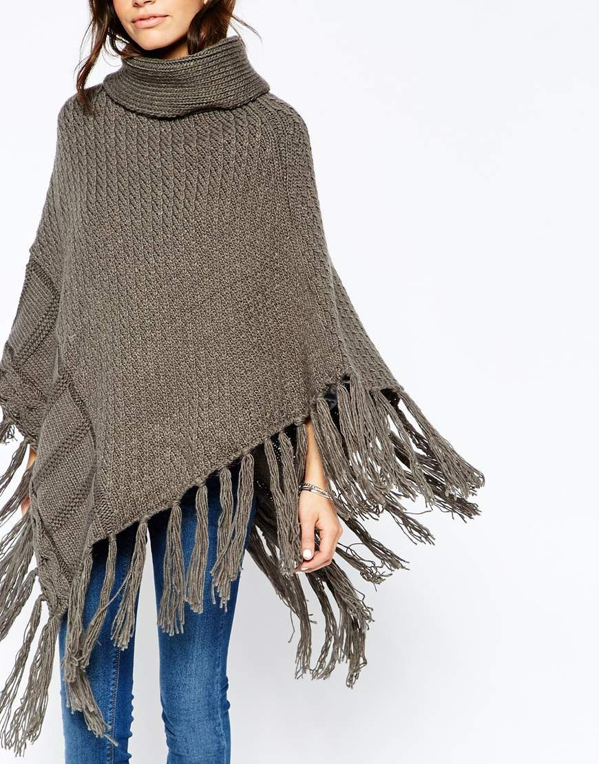 ASOS Only Knitted Poncho
