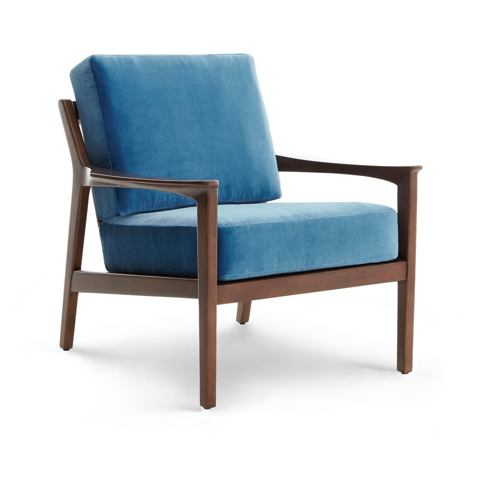 Albin Lounge Chair Covers Sold Separately Walnut