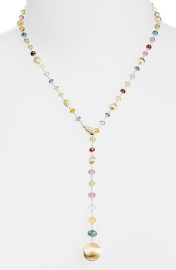 Amazing offer on Marco Bicego Africa Semiprecious Stone Lariat Necklace online - Mimafashionstylish -   20 women's jewelry Necklace stone pendants ideas