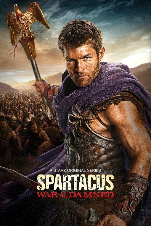 'Spartacus: Depois que ele é comprado pelo proprietário de uma escola de gladiadores romanos e treinado como um gladiador Um escravo lidera uma rebelião de escravos e gladiadores em revolta contra Roma.