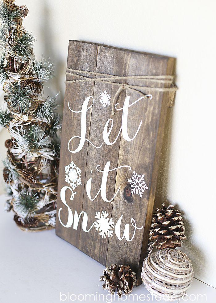 Diy Winter Woodland Sign Blooming Homestead Christmas Decorations Christmas Diy Winter Diy