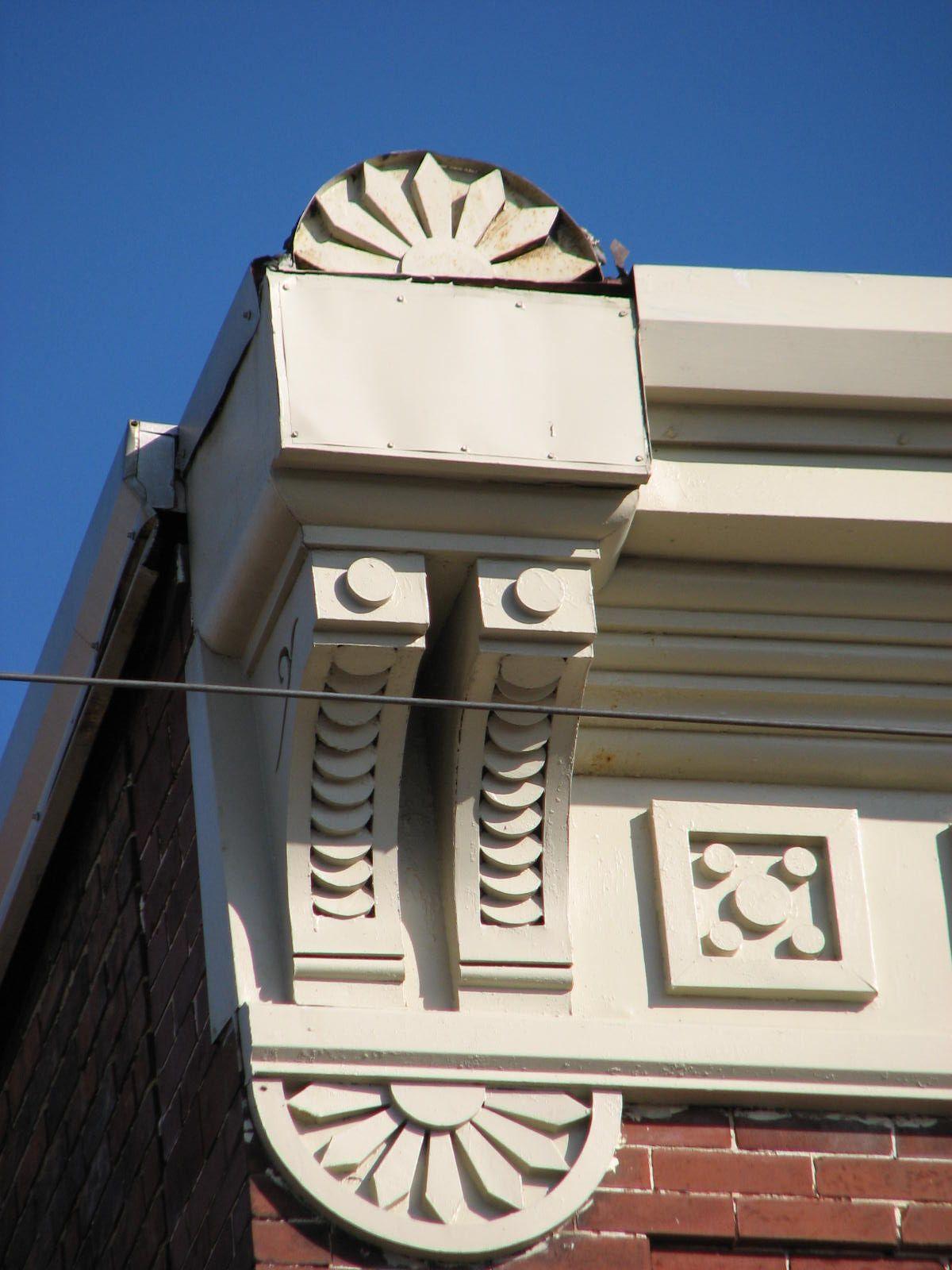 Cornice corner. Historic buildings, Architecture
