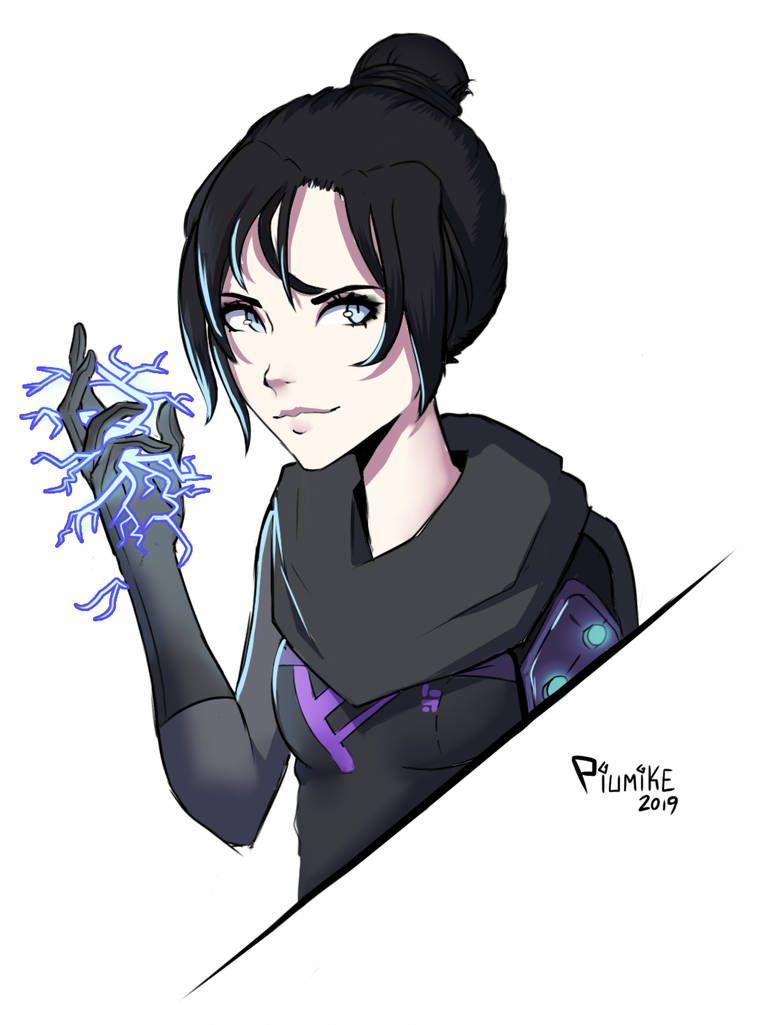 Apex Legends Wraith Fanart By Piumike On Deviantart Cartoon Drawings Drawings Cartoon Girl Drawing