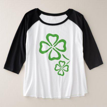 8ea913d335505 Simple St. Patrick s Day Clover Plus Size Raglan T-Shirt - st patricks day  gifts Saint Patrick s Day Saint Patrick Ireland irish holiday party