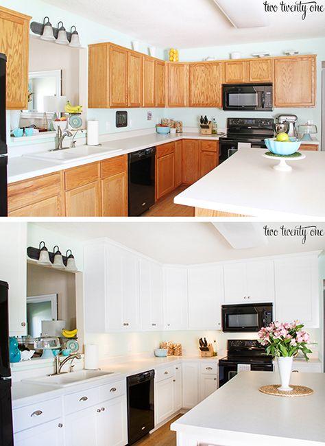 Antes y después de una cocina con una mano de pintura | Cocinas ...