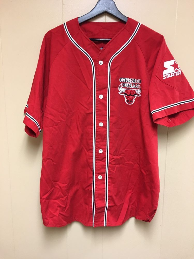 Starter NBA Chicago Bulls Baseball Jersey in 2019  198b282e6