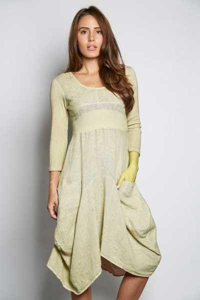 128dd4fea7 ... Summer Dress Ideas. Inizio Linen Dress 3 4 sleeve - Magic -organic  cotton and linen